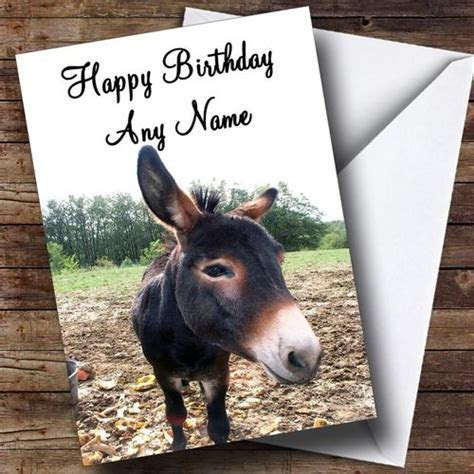 Donkey Personalised Birthday Card   The Card Zoo