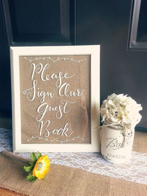 "Hand written. White 8x10 ""Please Sign Our Guestbook"" Frame"
