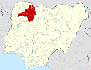 Map locator of Nigeria.