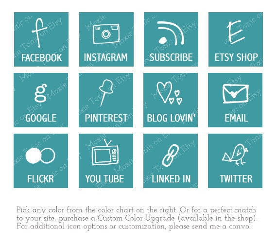 Web & Blog Buttons:12 Social Media Buttons For Your Blog