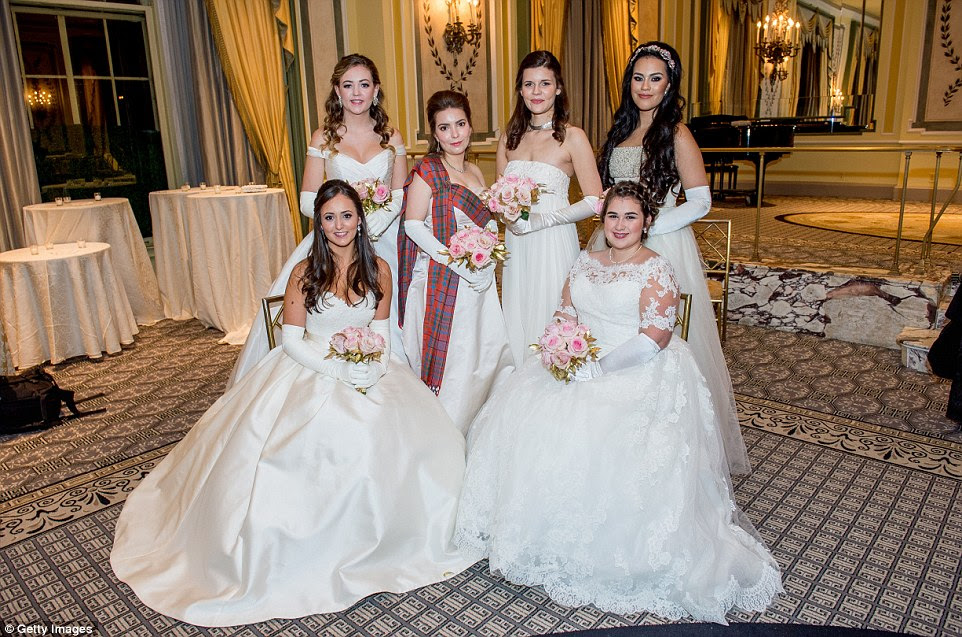 It is tradition for all of the debutantes to wear white to the ball, however they can customise their gowns as they wish with one young lady even adding tartan to her dress