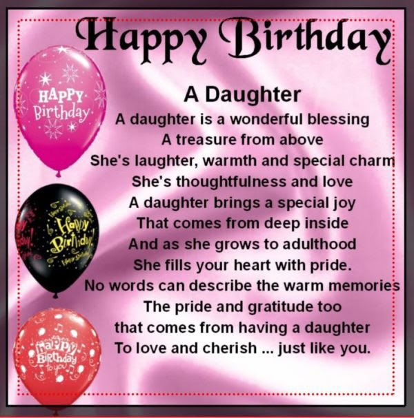 45 Birthday Wishes For Loving Daughter