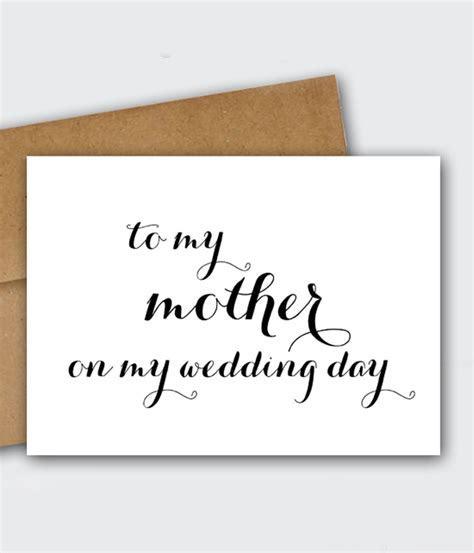 Free Wedding Printable   To My Mother on My Wedding Day