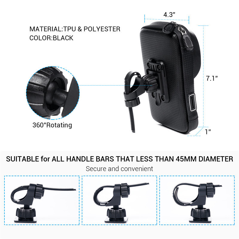 360 Rotating Waterproof Bike Phone Holder