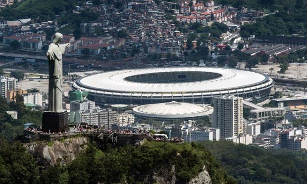 The Maracanã in Rio de Janeiro.