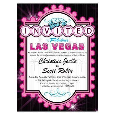 Las Vegas Invitation   The Knot Shop