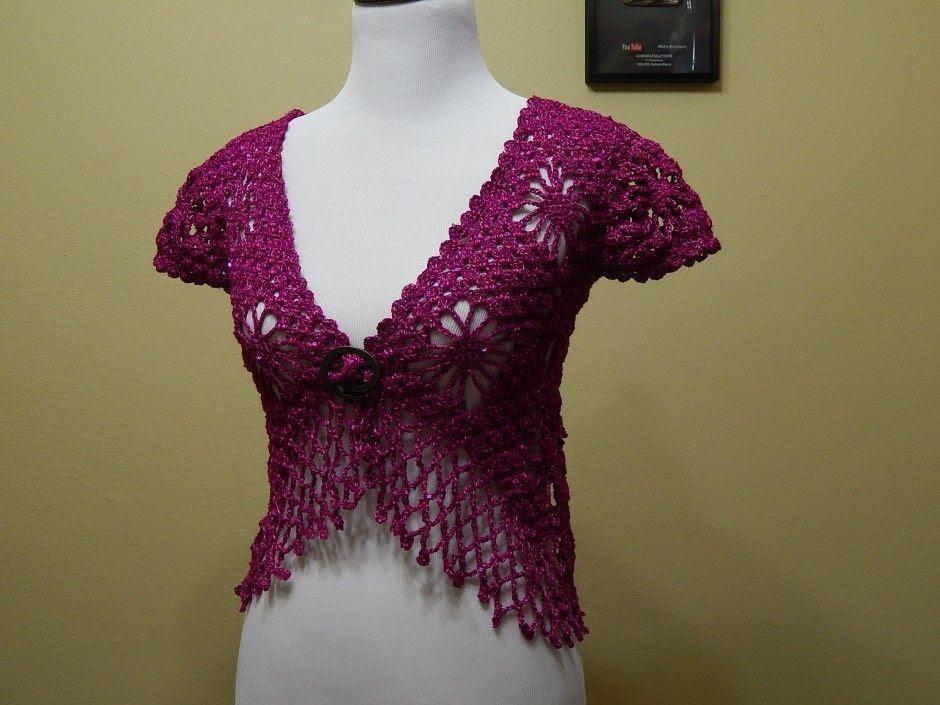 Bolero Bugambilia Crochet