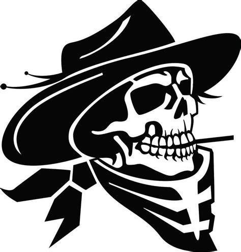 cowboy skull  cigarette car decal sticker ebay