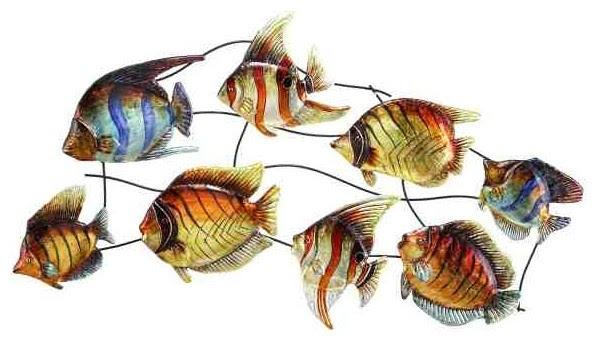 Detailed Darlings Tropical Fish Metal Wall Sculpture ...