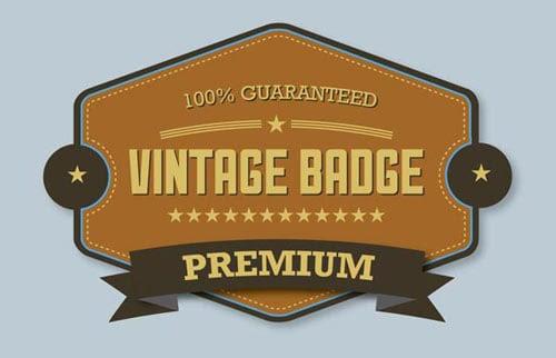 Final Reslult Premium Vintage Badge illustrator tutorial 20 Best & Latest Adobe Illustrator CS6 Tutorials For Beginners & Intermediates