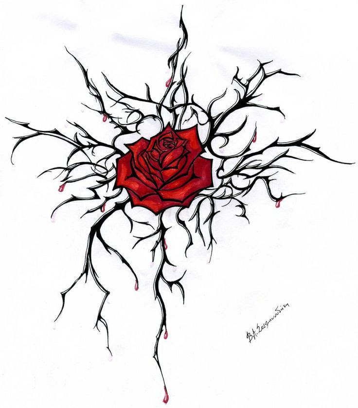 Heart With Thorns Drawing At Getdrawingscom Free For Personal Use