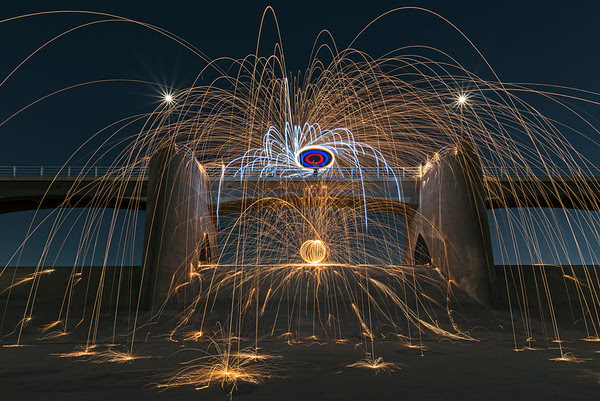 Steel wool at the Sepulveda Dam
