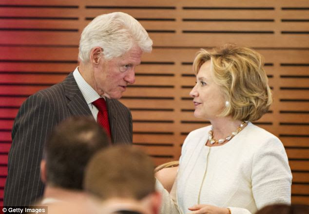 Damage? Hillary and Bill Clinton are pictured in Little Rock, Arkansas earlier this month