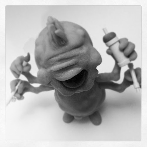 Who's this? @monsterkolor a cheeky little something we've got cooking for 2013.