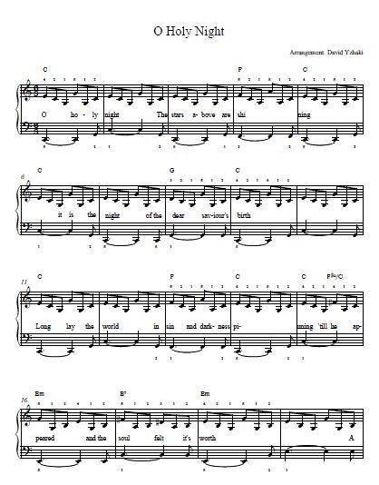 O Holy Night Chords 2015confession