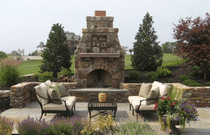 Outdoor Stone Patios Garden Design Shepherdstown Wv Pooles