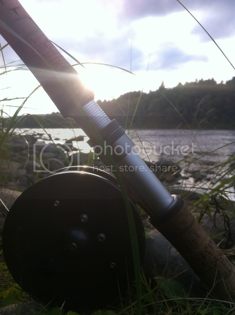 Atlantic Salmon Fishing on The Little Southwest Miramichi river. A Hardy Rod and Reel.