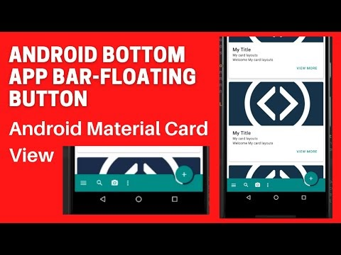 Material Cards & Material Bottom App Bar layout example