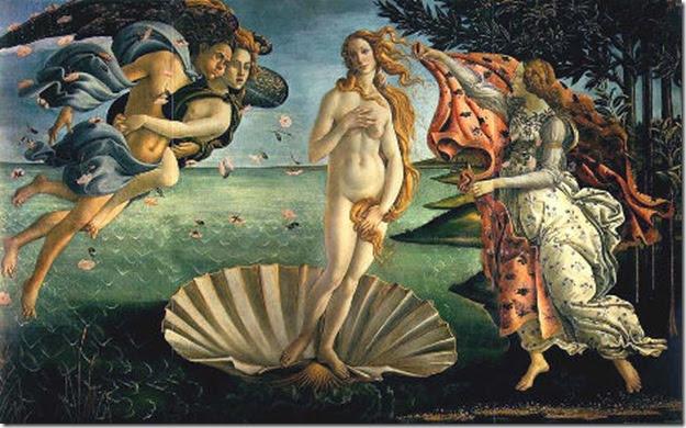 La naissance de Vénus, Sandro Botticelli, 1486