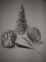 Floating Mouse - charcoal on newsprint 2008