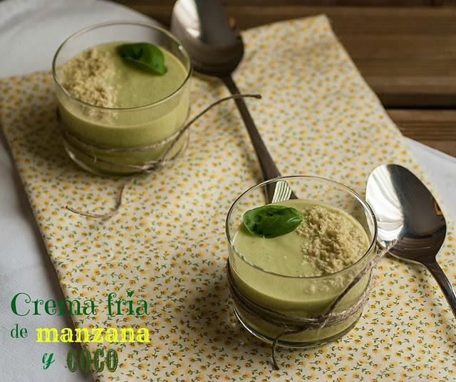 Crema fría de manzana y coco_picmonk