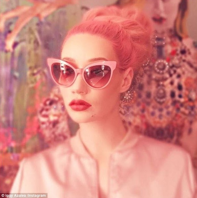 The new classic? Iggy Azalea  treated her fans to another snap showing off her fancy new hot pink hair 'do in a a retro- inspired look on Thursday