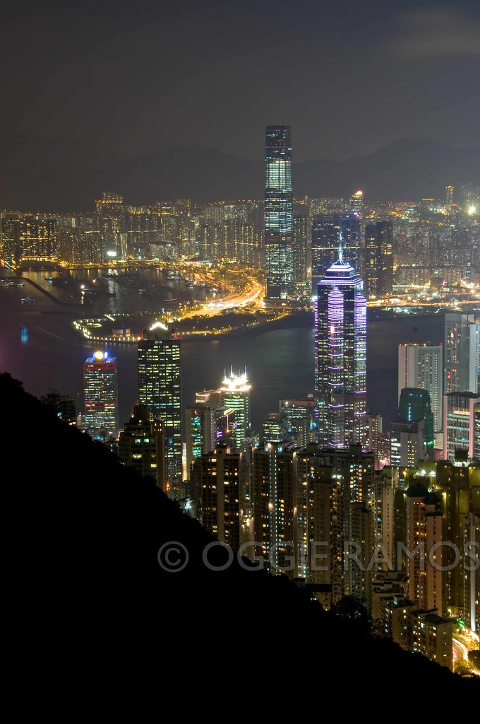 Hong Kong - Night Skyline View III from Victoria's Peak