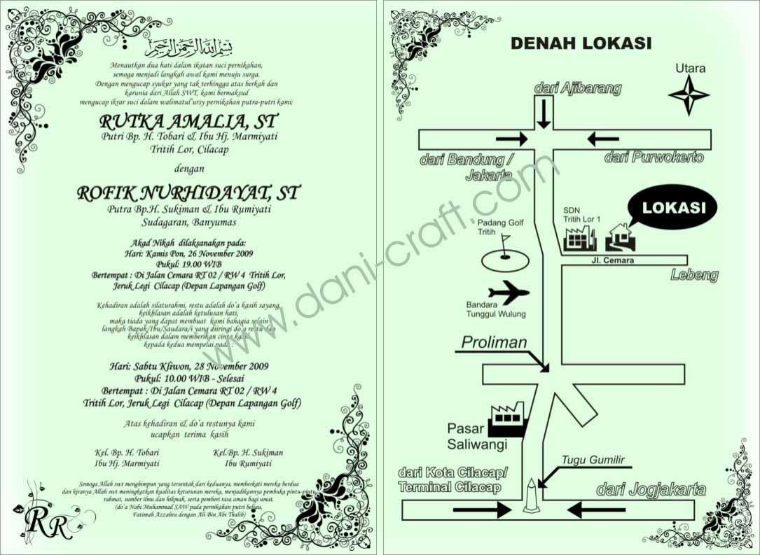 Undangan Pernikahan Islami Contoh Desain Souvenir Pernikahan