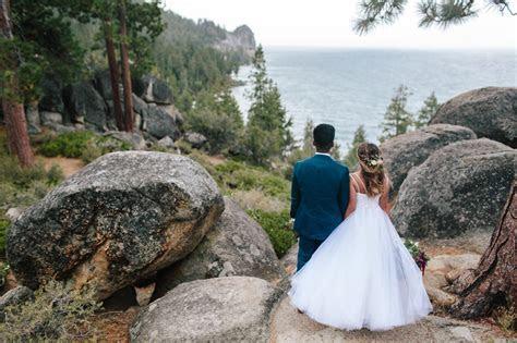 Rainy North Lake Tahoe Elopement Destination Wedding at