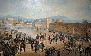 A Proclamação da República, cuadro del pintor brasileño Benedito Calixto, de 1893.