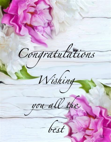 Congratulations Wishing you all the best   Wishes