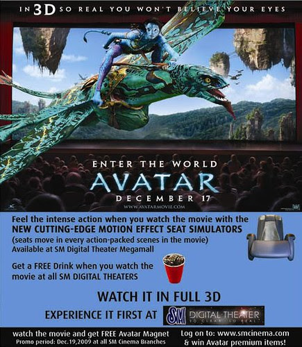 AVATAR 3D AD (FREE DRINK & VIB CHAIR)