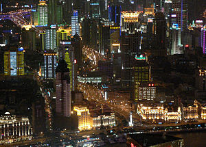 View from Jin Mao Tower. Best viewed large.