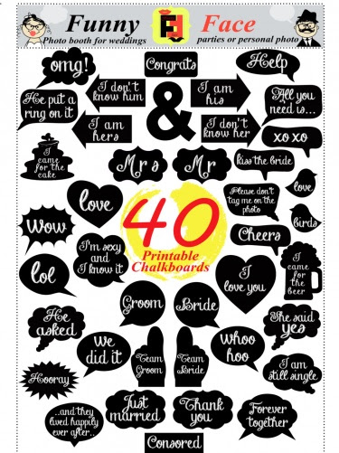 40 Diy Pdf Printable Chalkboard Signs In 2 Size Speech Bubbles And