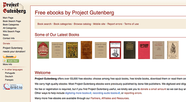 libros en pdf gratis | gutenberg