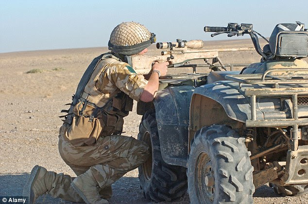 IS PICKED OFF IN GUERILLA-STYLE RAIDS: Using precision sniper rifles, machine guns and surprise tactics, the SAS take out their IS targets before disappearing back into the desert