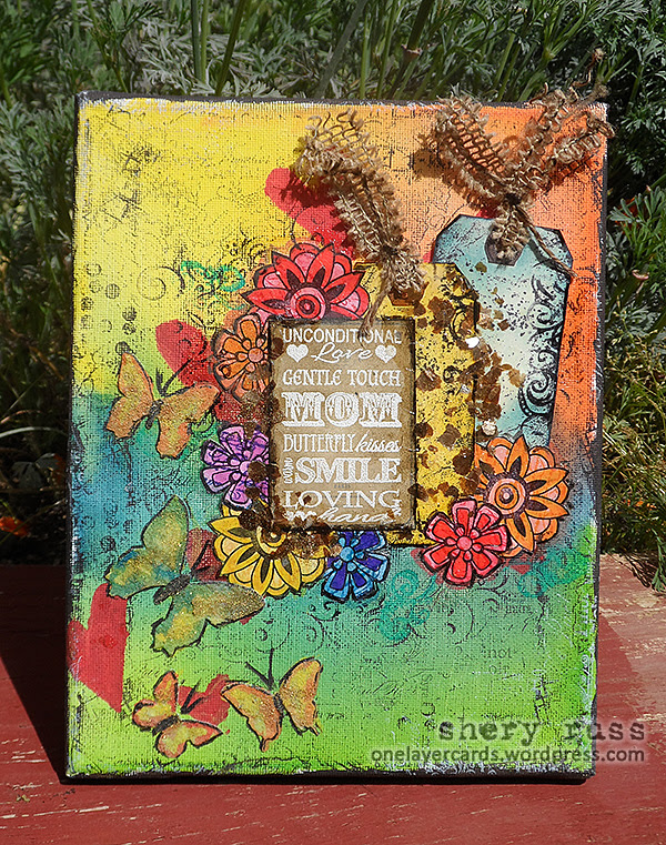 2014-03-27 Moms Unconditional Love Mixed Media Canvas