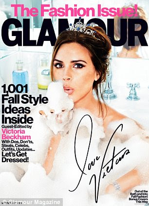 Out now: Elizabeth features in the September issue of Glamour Magazine US