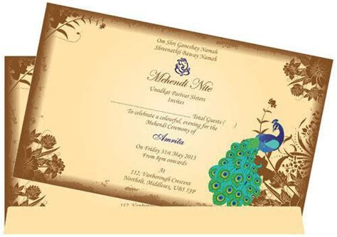 Muslim Wedding Invitation Card   MWC Peacock   Madhurash Cards