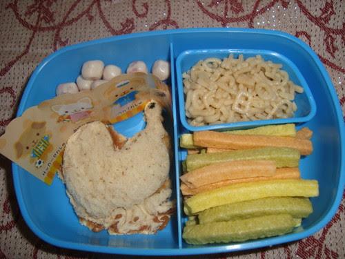 Alphabet pasta,pb&j,organic veggie straws,organic yogurt covered strawberries 11-17 by Rina Ameriasianbento