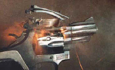 Blow up a revolver!