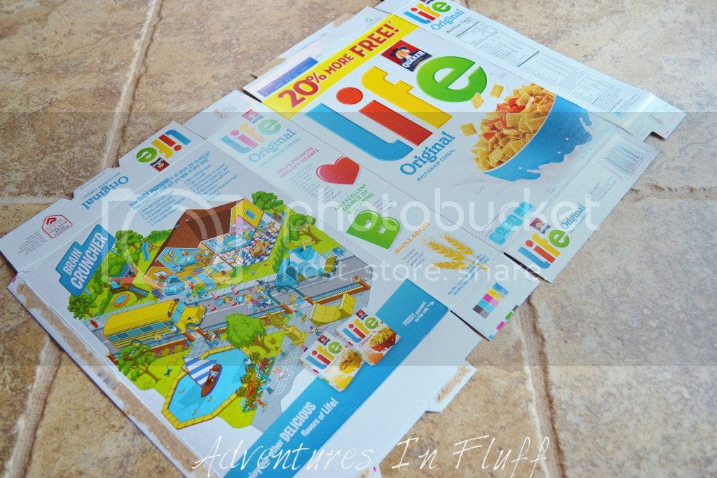 Upcycle a cereal box into a shipping envelope - Lay Flat