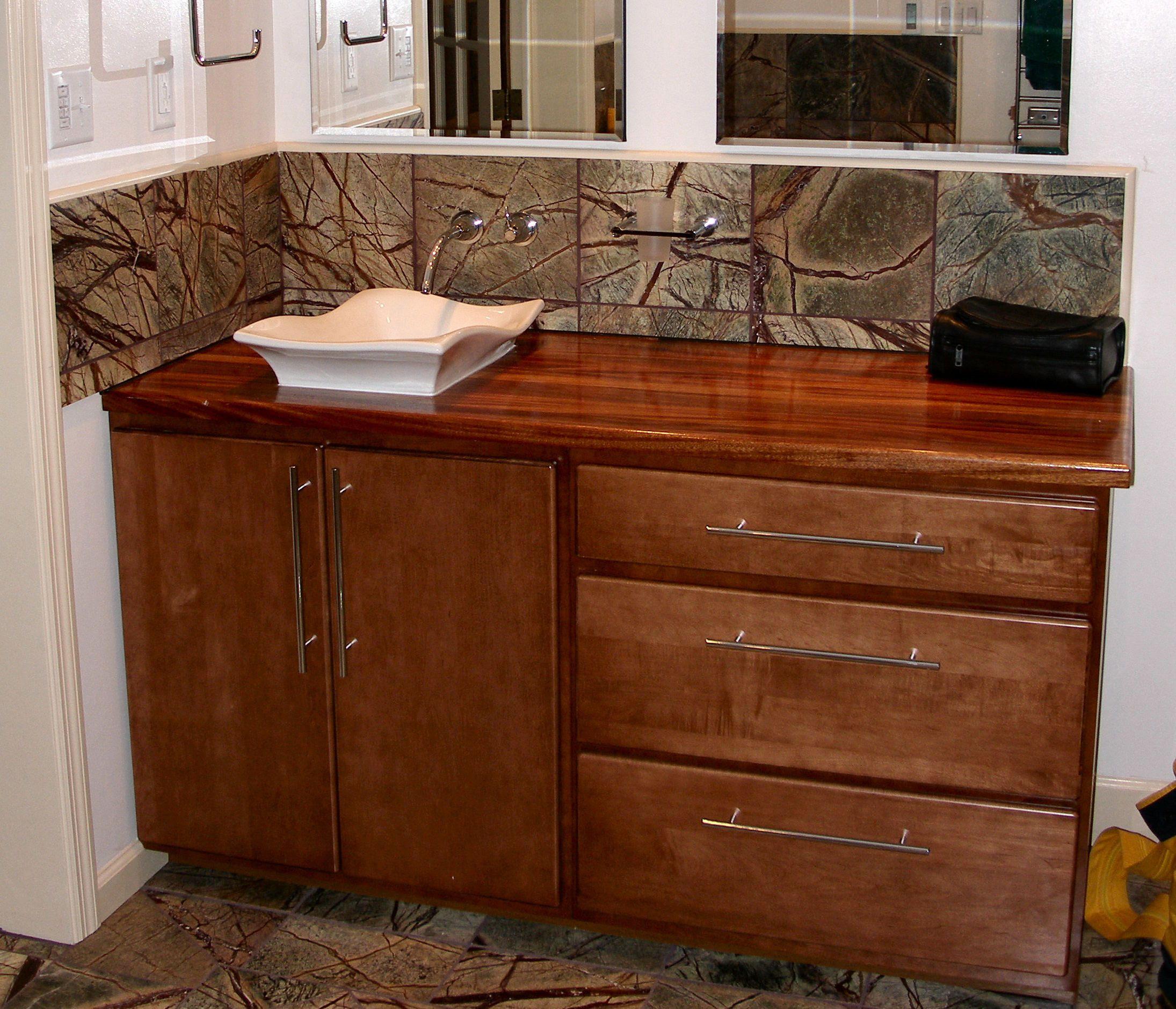 Sink Cutouts In Custom Wood Countertops