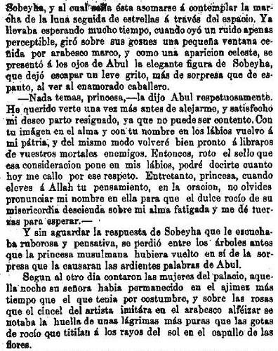 Leyenda de La Peña del Moro publicada en La Amérca por Eugenio de Olavarria y Huarte. Página 10