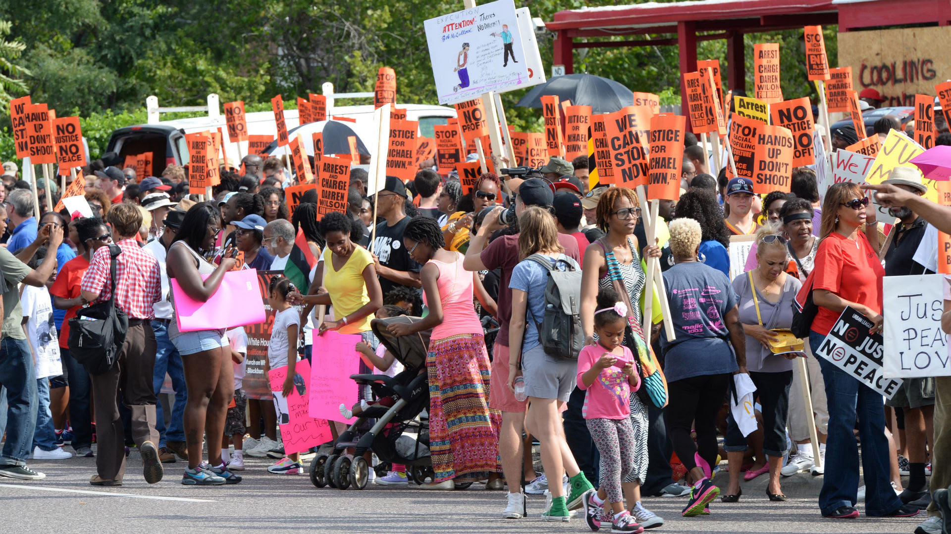 Protesters March in D.C. Streets for Mike Brown