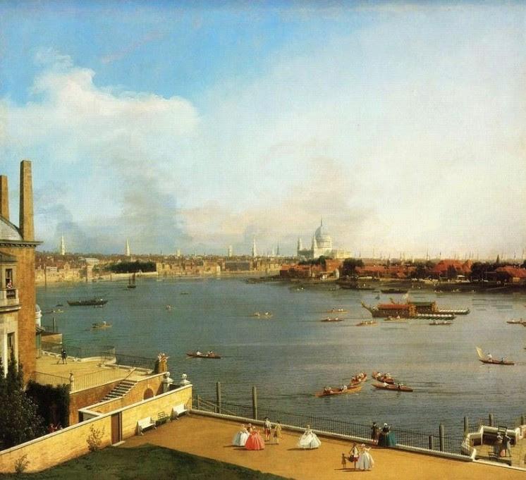 Antonio Canal-Cabaletto, Die Themse und die Londoner City gesehen von Richmond House