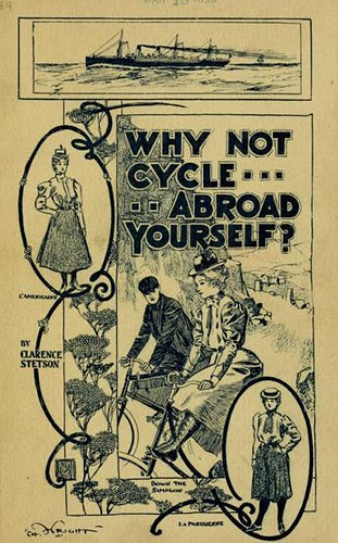 At back of Why Not Cycle Abroad Yourself (book, 1898)