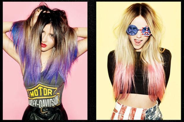 Aposta para o verão no Brasil, dip-dye hair já conquistou personalidades do showbiz B27 Jeans, Divulgação/