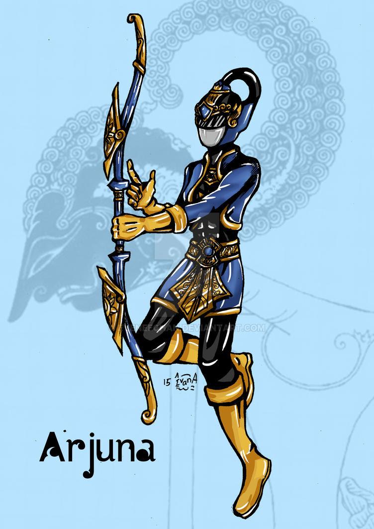 Arjuna The Blue Pandawa Ranger By Eveneechan On Deviantart