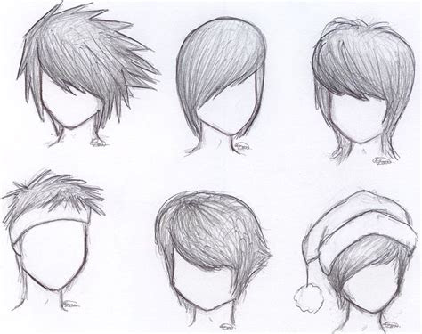 draw anime boy hair step  step  beginners